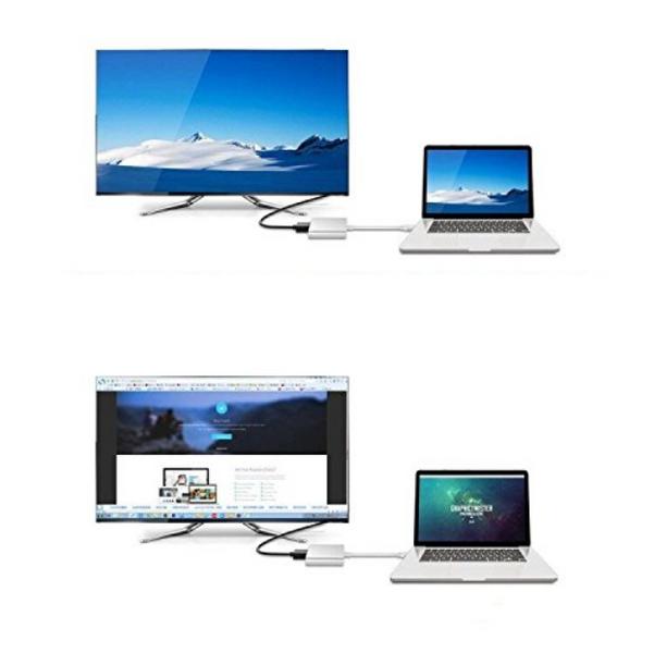 Przejściówka Adapter 3w1 HUB USB C HDMI 4K MacBook Air Pro 13/15/16 zdjęcie 6