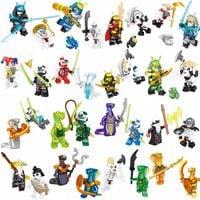 MEGA figurki klocki 32szt + karta lego ninjago zPL