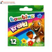 Kredki woskowe 12 kolorów pud Bambino 20099