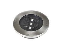 Lampy solarne najazdowe 4 sztuki, stalowe