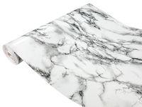 Folia Okleina Meblowa Marmurowa MARMI BIAŁO-CZARNE 90x50 D21