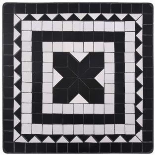 MOZAIKA BISTRO 60x60cm, czarno-biały, taras i ogród