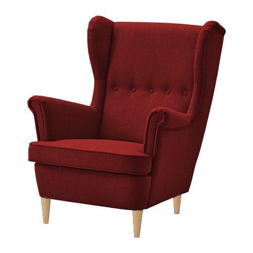FOTEL USZAK ANGEL LORD KING IKEA !!! STRANDMON GRANATOWY !! 7 DNI zdjęcie 4