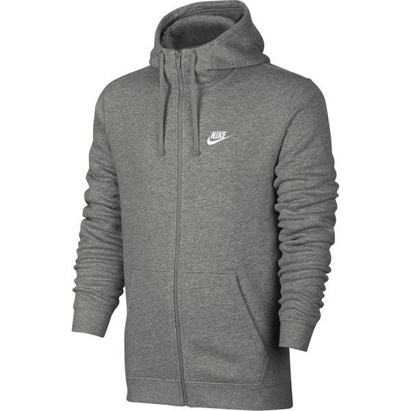 Bluza męska Nike M NSW Hoodie FZ FLC Club szara 804389 063 XL