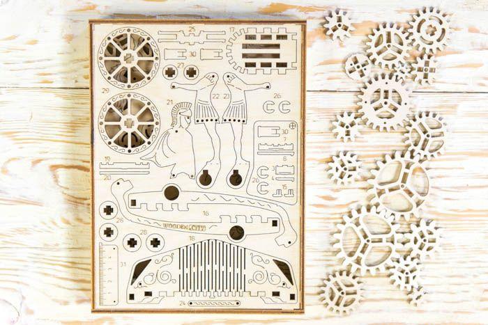 RYDWAN RZYMSKI Mechaniczne Puzzle 3D Wooden City zdjęcie 6