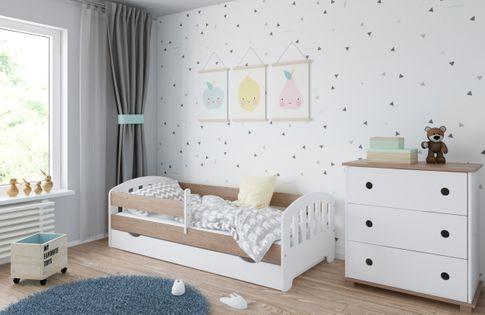 Łóżko CLASSIC 180 x 80 szuflada + barierka ochronna + MATERAC GRATIS
