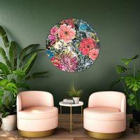 CRAZY IN LOVE okrągły obraz, dibond Ø50 cm