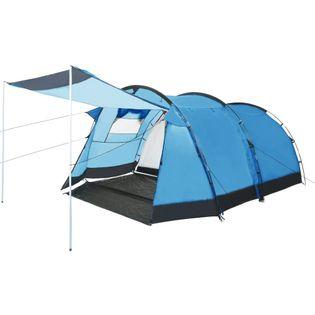 Namiot turystyczny tunelowy 4-osobowy niebieski VidaXL