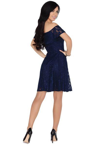 Elegancka Sukienka rozkloszowana koronkowa Midi na imprezę szykowna M zdjęcie 2
