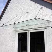 Daszek szklany 200 x 120 cm do samodzielnego montażu