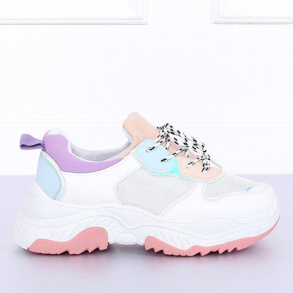 Buty sportowe biało fioletowe B0 63 r.39