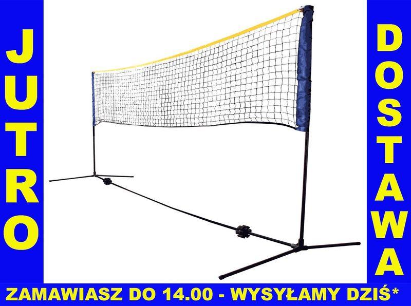 79ed72f6ac34 ZESTAW DO BADMINTONA siatka słupki badminton 3m • Arena.pl
