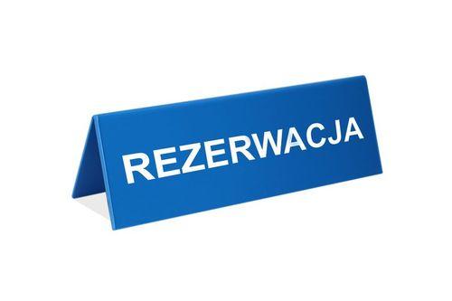 Rezerwacja - stojak na stoliki - wym. 150x50mm - czarny na Arena.pl