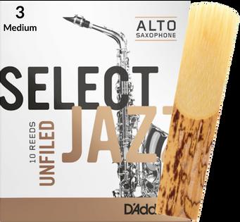 Stroik saksofon altowy 3M RICO Select Jazz UNFILED