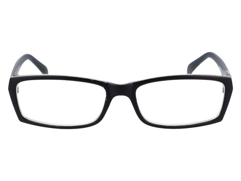 Prostokątne zastępcze okulary plusy czarne +1.00 zdjęcie 4