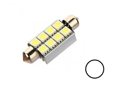 ŻARÓWKA LED SV8.5, C3W, C5W, C20W rurkowa 12V CANBUS 42mm 160lm biała
