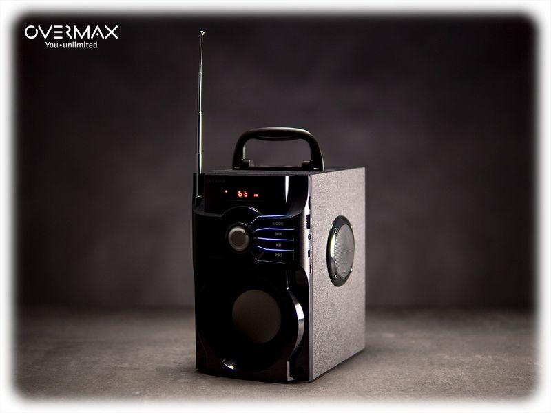 OVERMAX Soundbeat 2.0 - Głośnik Bluetooth USB SD AUX Radio PRZENOŚNY zdjęcie 2