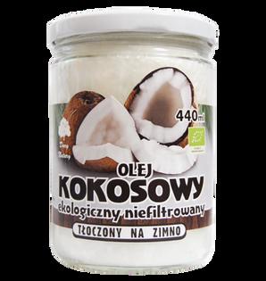 Olej Kokosowy EKO, nierafinowany - 440ml Dary Natury