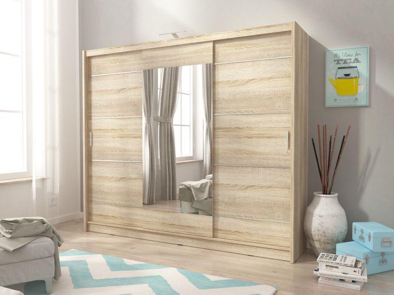 Szafa AWENA PLUS 250cm,garderoba,lustro,sypialnia,przedpokój 4 kolory! zdjęcie 8
