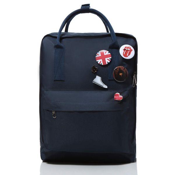 Plecak jak kanken CLASSIC vintage damski młodzieżowy granatowy zdjęcie 1