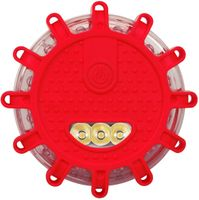 Lampa ostrzegawcza błyskowa 12+3 LED flara kogut dysk latarka 3xAAA FV