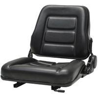 Fotel Do Ciągnika/wózka Widłowego Z Regulowanym Oparciem,czarny
