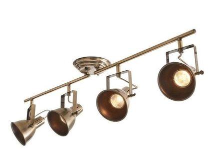Lampa plafon Fjall mosiądz ant regulowany stalowy Retro fr1