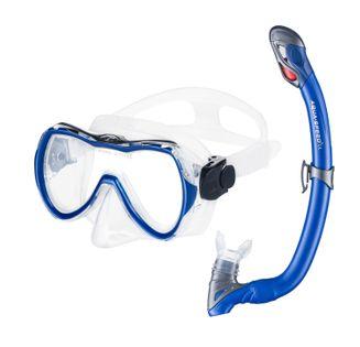 Zestaw do nurkowania ENZO + SAMOS Kolor - Nurkowanie - Maska + Fajka - 11 - niebieski