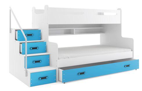 Łóżko łóżka piętrowe dla trójki dzieci MAX 3 dziecięce 200x120+MATERAC