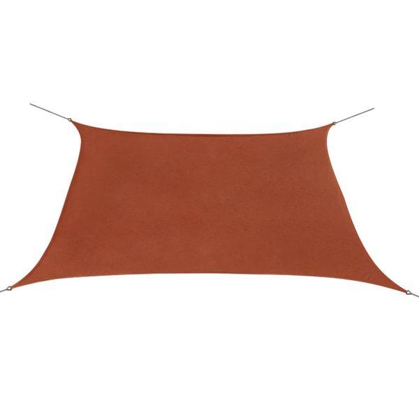 Żagiel ogrodowy z tkaniny oxford, kwadrat 3,6x3,6 m, terakota zdjęcie 1