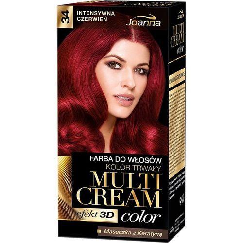 Joanna Multi Cream Color Farba Do Włosów 34 Intensywna Czerwień na Arena.pl