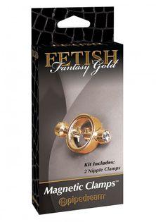 Magnetyczny Stymulator Na Brodawki - Fetish Fantasy Gold Magnetic Clamps