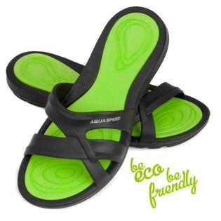 Klapki basenowe PANAMA Rozmiar - Klapki - 38, Kolor-Panama - 38 - czarny / zielony