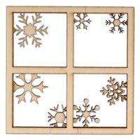 AD1084 Okno ze śnieżynkami