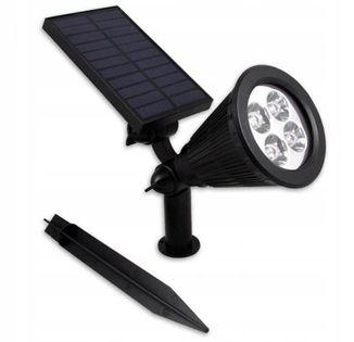 Lampa solarna LED ogrodowa elewacyjna lub wbijana