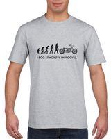 Koszulka męska EWOLUCJA BO STWORZYL MOTOCYKL s L