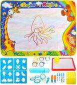 Wielka Mata Wodna do Malowania Pieczątki 100x80 dla Dzieci U228