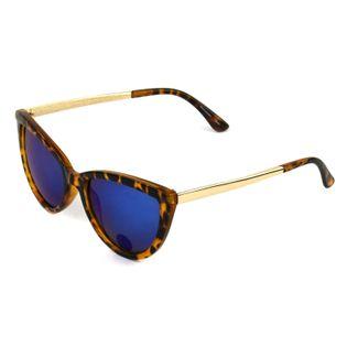 Okulary przeciwsłoneczne damskie kocie szylkret