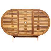 Zestaw mebli ogrodowych, 9-częściowy, drewno akacjowe zdjęcie 4