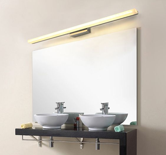 Minimalistyczna Lampa Nad Lustro Kinkiet łazienkowy Led 50 Cm 12w