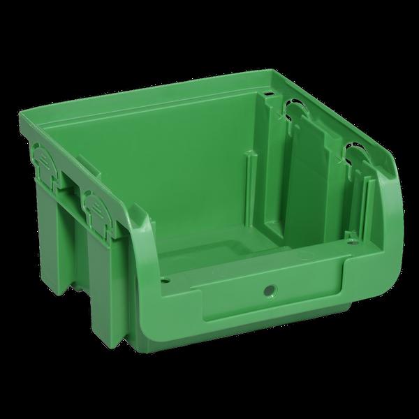 Pojemnik magazynowy, warsztatowy nr 1 - 100x102x60 mm. Zielony. na Arena.pl