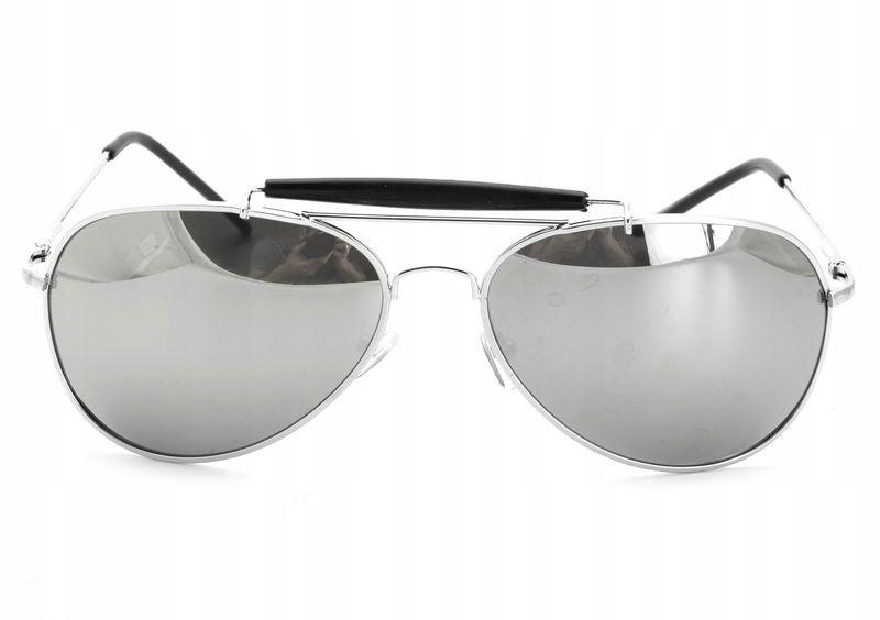 Aviator okulary przeciwsłoneczne pilotki metal zdjęcie 2