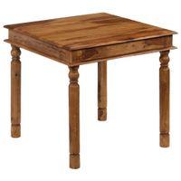 Stół do jadalni z litego drewna sheesham, 80 x 80 x 77 cm GXP-676007