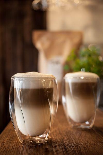 Szklanki Termiczne z Podwójną Ścianką do Kawy Latte Herbaty 300ml 6szt zdjęcie 5