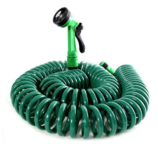Spiralny wąż ogrodowy 15m + 5-funkcyjny pistolet zdjęcie 1