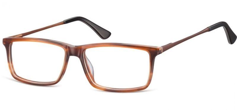 Korekcyjne oprawki okularowe damskie męskie brąz zdjęcie 7