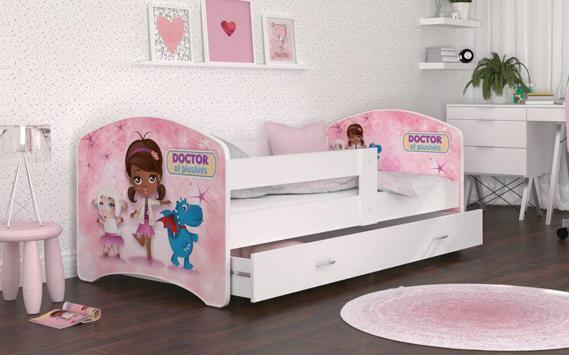Łóżko 180x90 LUCKY szuflada + materac zdjęcie 2