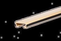Listwa poręczowa PCV LUX, poręczówka 40x8mm krem/czarny 1 mb