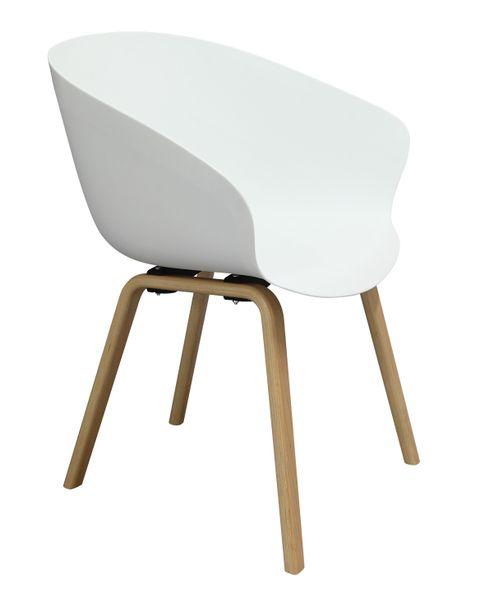 MODESTO fotel ANGEL biały - polipropylen, podstawa bukowa zdjęcie 12