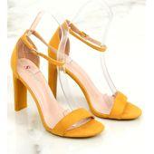 Sandałki na obcasie żółte NF-37P Yellow r.36